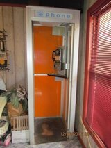 Antique General Telephone Booth w/Chrome Telephone in bookoo, US
