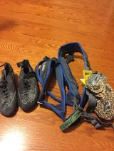 Climbing harness, shoes and chalk bag in San Diego, California