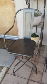 Metal swivel chair in Yucca Valley, California