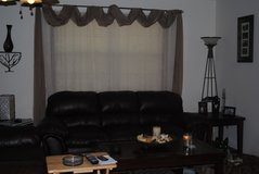 Leather couch, love seat, rocker recliner and end tables in Fort Leonard Wood, Missouri