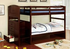 TWIN/TWIN BUNK BED W STAIRCASE DRESSER FREE DELIVERY in Huntington Beach, California