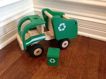 Pottery Barn Kids Wooden Vehicles - Police Car & Recycle Truck in Bolingbrook, Illinois