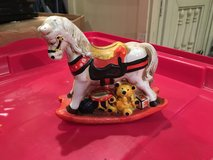 Vintage rocking horse in Morris, Illinois