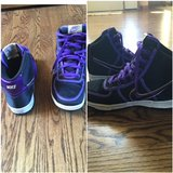 Nike Purple Size 6 Boys basketball shoes in Buckley AFB, Colorado