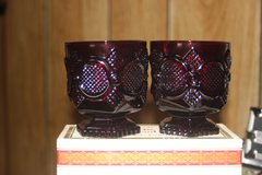 Cape Cod Ruby Red Footed glass set in Rolla, Missouri