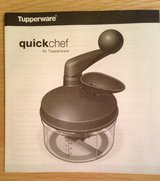 Vintage Tupperware Quickchef Food Processor and Chopper in Glendale Heights, Illinois