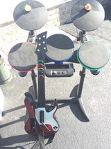Wii drum set and guitar in Dover AFB, Delaware