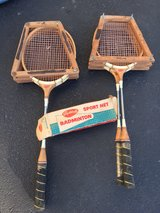 Antique badminton set in Dover AFB, Delaware