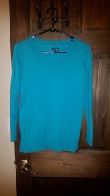 Teal sweater in Chicago, Illinois
