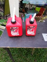 1 gallon in 2 gallon gas cans in Okinawa, Japan