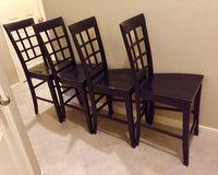 4 Solid Hardwood Macys Black Barstools /Bar Height in Kingwood, Texas
