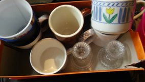 Misc coffee cups/candle holders in Bartlett, Illinois