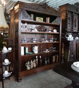 gorgeous antique book shelves in Spangdahlem, Germany