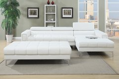 WHITE CONTEMPORARY SECTIONAL FREE DELIVERY in Huntington Beach, California