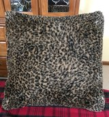 Soft, Furry Cheetah Print Pillow in Naperville, Illinois