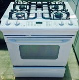 GE White Slide in 5 Burner Gas Stove in Temecula, California