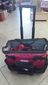 Milwaukee tool set in rolling Husky tool bag in Yucca Valley, California