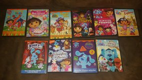 Lot of Dora and Blues Clues DVDs in Houston, Texas