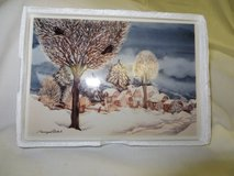 TILE WINTER SCENE PAINTING - NIB  Boxed in Westmont, Illinois