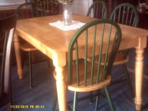 Wood rectangle table and chairs in San Diego, California