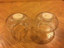 2 Round Glass Candle Holders in Aurora, Illinois