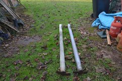 2m Metal Auto Slam gate post galvanised 90mm diameter used but in excellent condition £15.00 in Lakenheath, UK