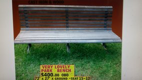 vintage park bench in Pasadena, Texas