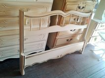 Painted w/ Gold Detailing, Full French Provincial bed - 10% off in Camp Lejeune, North Carolina