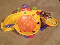 Fisher price spinning racetrack toddler toy in Lockport, Illinois