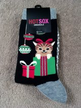 HOT SOX CHRISTMAS CAT SOCKS, NIP in Lakenheath, UK