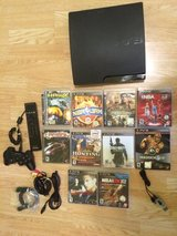 Ps3 120 Gb+10 Games+Bluetooth+Control+BD Remote. in Bolingbrook, Illinois