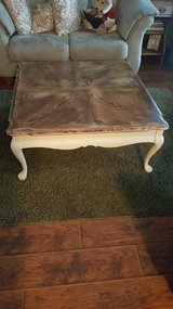 Large rustic coffee table in Naperville, Illinois