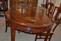 Rosewood, Mother of Pearl Chinese dining room set in Naperville, Illinois