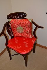 Two Rosewood Chinese corner chairs with Mother of Pearl Inset in Naperville, Illinois