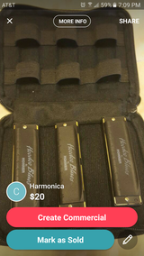 3 Piece Harmonica Set C,G,D in Fort Leonard Wood, Missouri