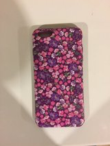 Pink flower plastic iPhone 6 Plus phone case in Batavia, Illinois