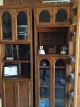 Two oak cabinets with lots of storage. in Orland Park, Illinois