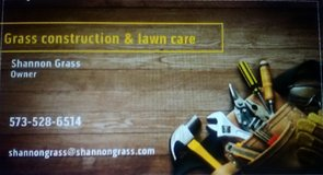 Grass construction and landscaping in Fort Leonard Wood, Missouri