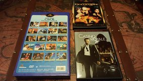 LOT of 21 James Bond DVDs 20 from China (1962-2002) + 2 American James Bond DVDs in Ramstein, Germany