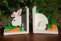 Rabbit In The Carrot Patch Bookends in Macon, Georgia