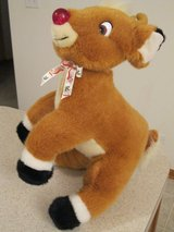 1999 Large Rudolph the Red Nose Reindeer Plush Stuffed Animal in Houston, Texas