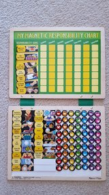 Responsibility charts set of 2 kids magnetic board in Aurora, Illinois