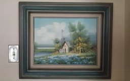 House by The Lake Oil Painting in Conroe, Texas