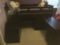 Kids loft bed with attached desk and dresser in Travis AFB, California