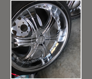 20 Inch Chrome Rims W/ 2 Brand New Tires and 2 almost new (1200 miles) in Hinesville, Georgia