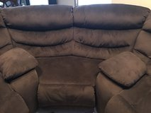Mocha color, suede, sectional wedge. Made in America. in Aurora, Illinois
