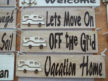 Wood Burned RV Signs in 29 Palms, California