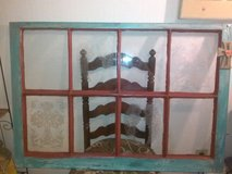 Etched Window with wood borders in San Angelo, Texas