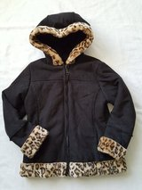 Black cheetah suede coat girls size 7/8 in Morris, Illinois