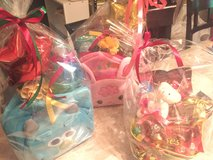 Diaper cakes and gift baskets in Okinawa, Japan